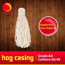 15m salted hog casing,caliber 46mm-48mm sausage casing ,free shipping sausage shell(China (Mainland))