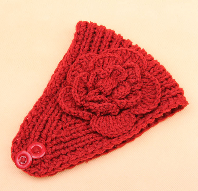 Popular Free Knit Headband Pattern with Flower-Buy Cheap Free Knit ...