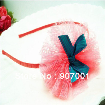 Min order is $10 (mix order) Girls Baby Princess Ribbon bow double layer Hair hoop hair band/Hair Accessorie Baby jewelry XM-111