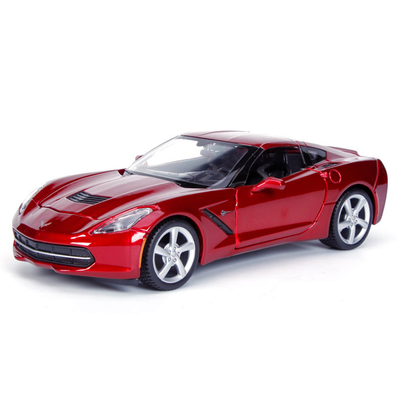 Diecast Model Corvette C7 2014 Red 1:24 Alloy Car Metal Racing Vehicle Play Collectible Models Sport Cars toys Gift - Hotland Originality Studio store