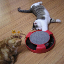 Spin the Mouse Cat Toy with Scratch Board