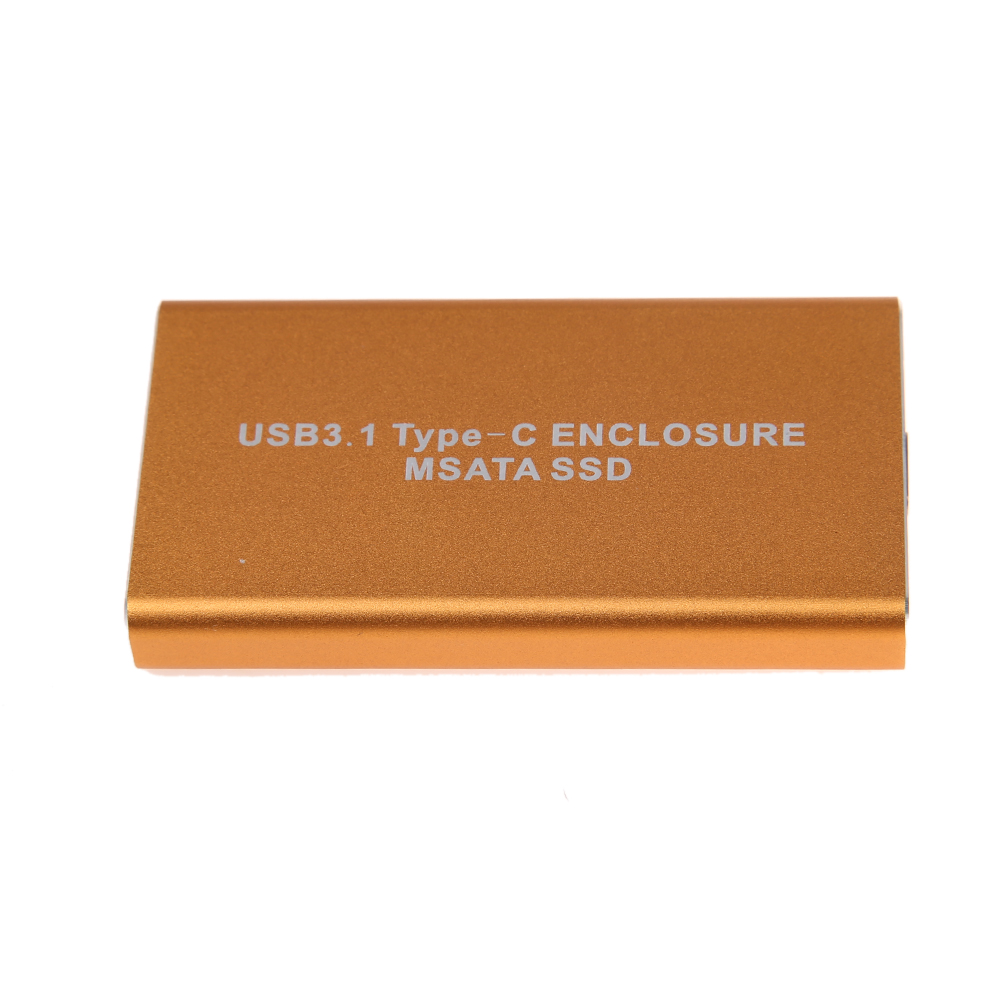 10Gb/s USB 3.1 Type-C to mSATA SSD Enclosure USB-C to mini SATA Hard Disk adapter External HDD Mobile Box(China (Mainland))