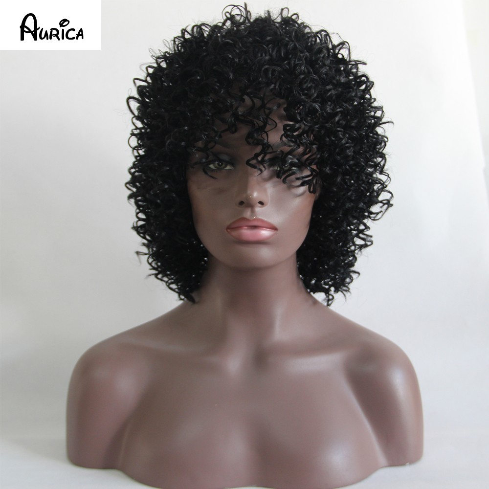ruize black curly wig 2