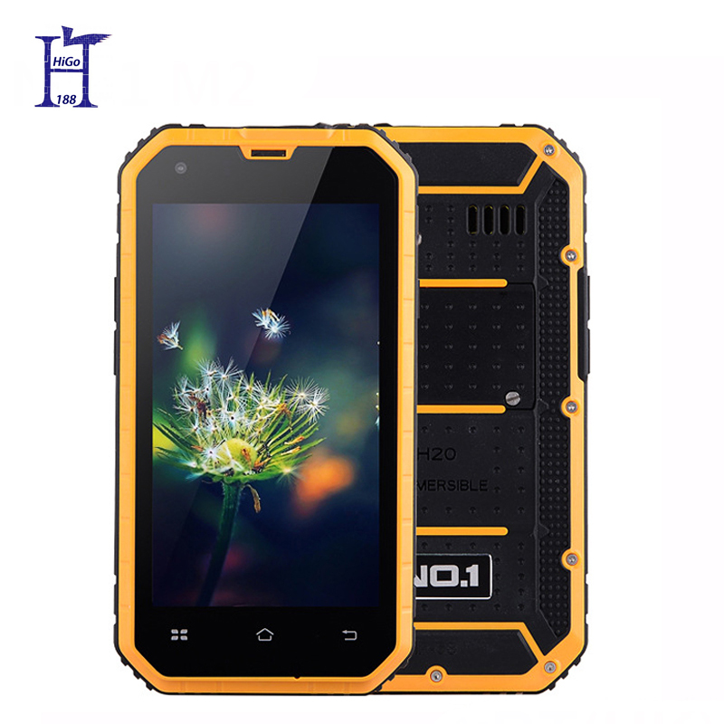 New NO.1 M2 IP68 MTK6582 Waterproof phone Quad Core 4.5'' Android 5.0 1GB RAM 8GB ROM 13MP dual-bands 1.3GHz(Hong Kong)
