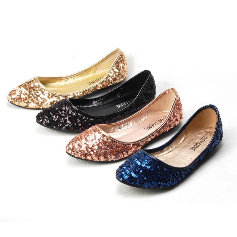 2015 New Shallow Mouth Slip-on Women Ballet Flats Fashion Glitter Pointed Toe Flats For Women Ladies Casual Flat Shoes Ballerina(China (Mainland))