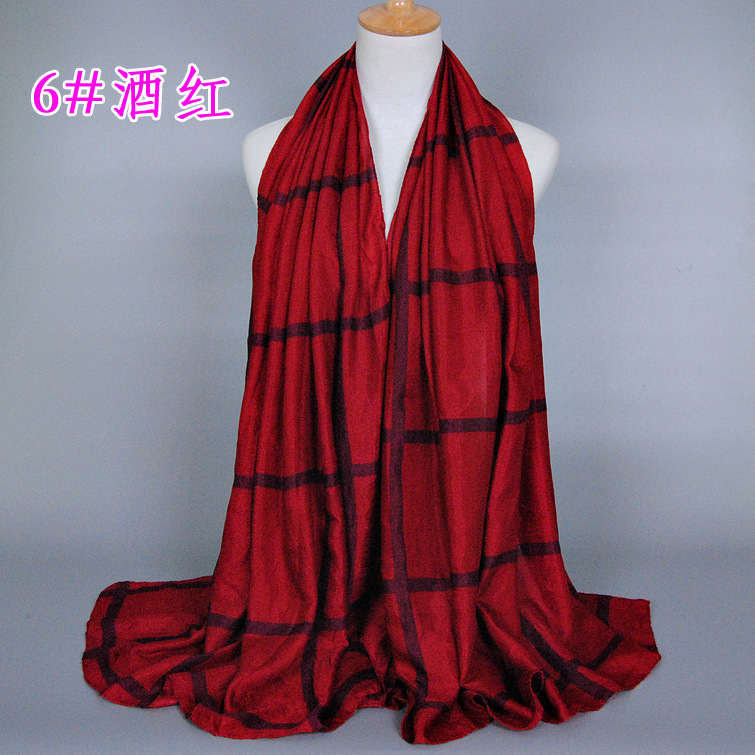 Free shipping Lady Women Neck Warm font b Tartan b font Grid Pashminas Reversible Shawl Scarf