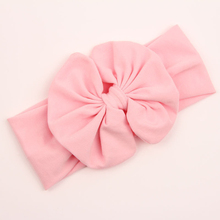 1 X Baby Girl Kids Soft Stretch Stripe Rabbit Bow Bowknot Turban Flower Hairband Headband Hot Hair Band Accessories(China (Mainland))