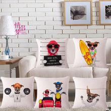 Hot Sale Car Seat Cotton Linen Sport Dogs Cushion Without Core Decorative Throw Pillows Sofa Cushions Home Decor Pillow 45*45cm