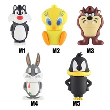 Bugs Bunny USB flash drive Daffy Duck Pen drive 4gb 8gb 16gb 32gb Tweety USB stick Devil pendrive free shipping external storage(China (Mainland))