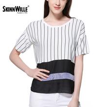 SkinnWille 2017 Весной И Летом 2017 женщин Новый Классический Полосатый Свитер Платье Женщины Топы Рубашка Женщин(China (Mainland))