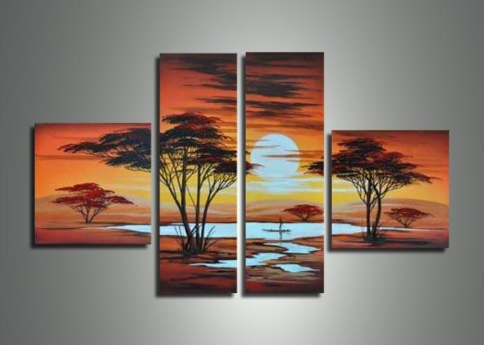 cuadros paisajes árboles al por mayor de alta calidad de China ...