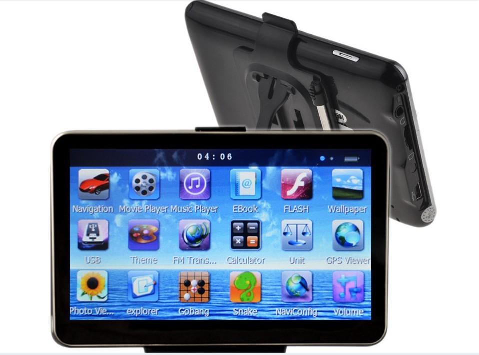 GPS-навигатор 5/gps Nav 4 WinCE 6.0 Mp4 Mp3 FM ultra thin 7 touch screen lcd wince 6 0 gps navigator w fm internal 4gb america map light blue