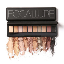 Focallure Naked Makeup Palette Natural Eye Makeup 10 Colors Eye Shadow Make Up Shimmer Matte Cosmetics Eyeshadow Palette Set