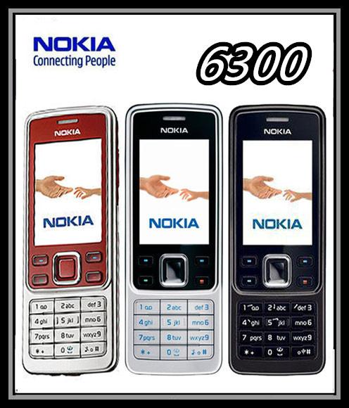 Original unlocked 6300 Nokia Mobile Phone have English keyboard and Russian keyboard free shipping(China (Mainland))