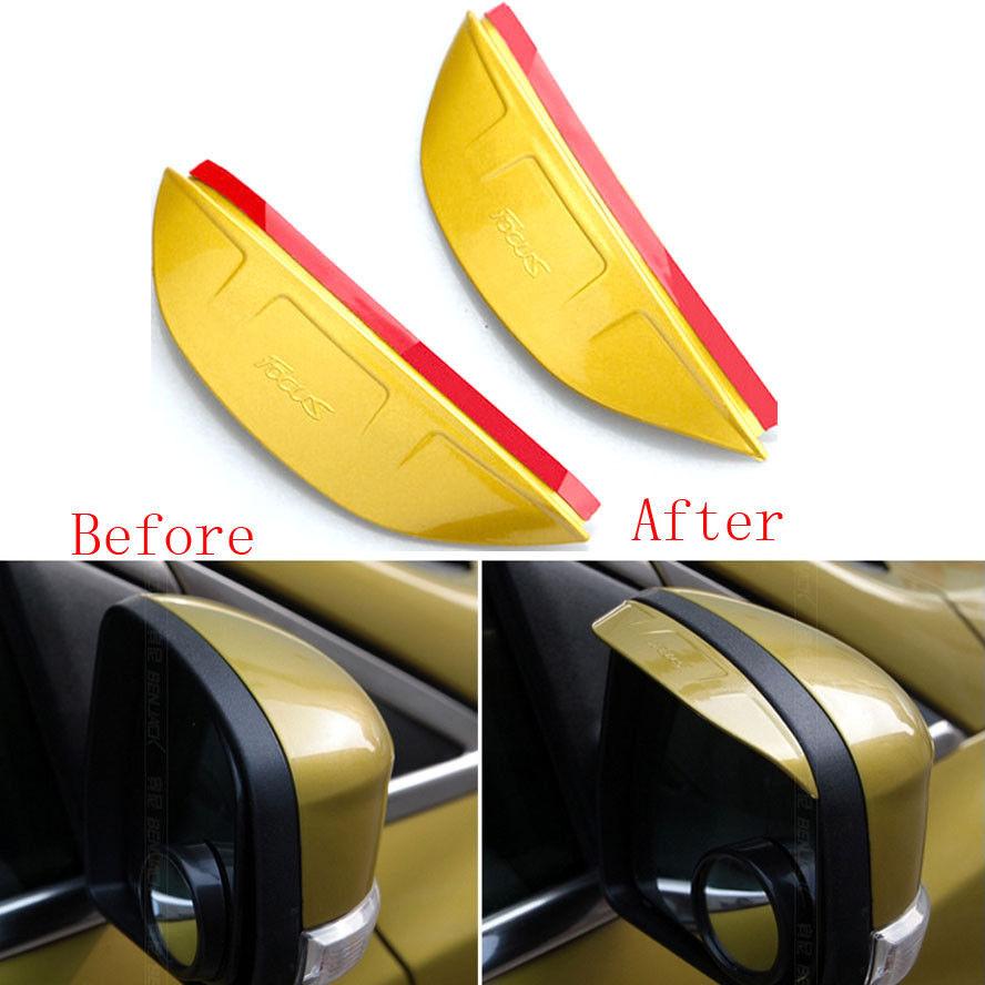 1x Car Rearview Side Mirror Shield Rain Board Sun Show Visor Shade Cover For Focus(China (Mainland))