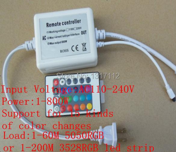 rgb led controller including 44key rf wireless dmx rgb controller For AC:110V&220V SMD 5050 3528 strip tape Lights(China (Mainland))
