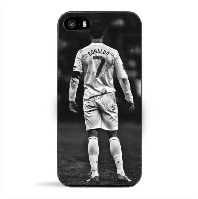 Cool Cristiano Ronaldo CR7 Love Football Pattern hard black Case Cover for iPhone SE 4 4s 5 5s 5c 6 6s 6 Plus 6s Plus 7 7Plus