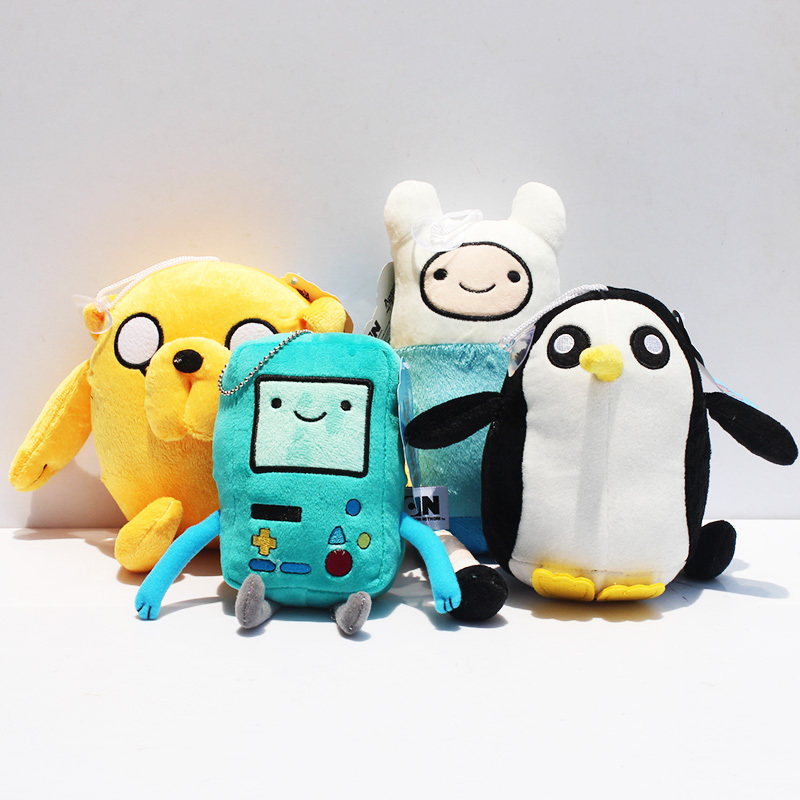 Adventure time Plush Toys Jake Finn Beemo BMO Penguin Gunter Ice king Stuffed Animals Plush Dolls Soft Toys Free Shipping(China (Mainland))