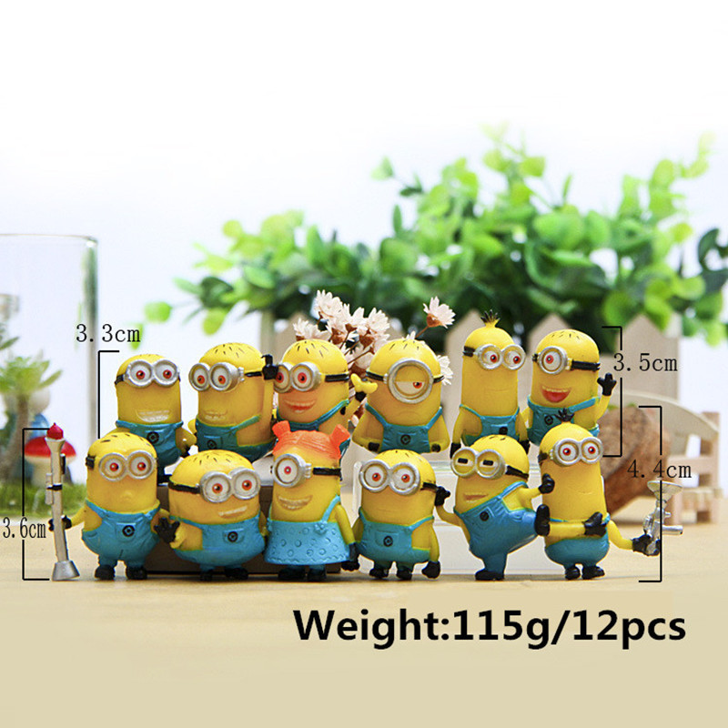 12PCS-Dozen-Kids-Toys-Despicable-Me-2-Minion-in-Action-Figures-Minions-2015-Toys-Doll-Toy