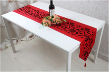 Table runner fashion silk brief dining table cloth christmas decoration luxury fashion tablecloth bed flag red table mats(China (Mainland))