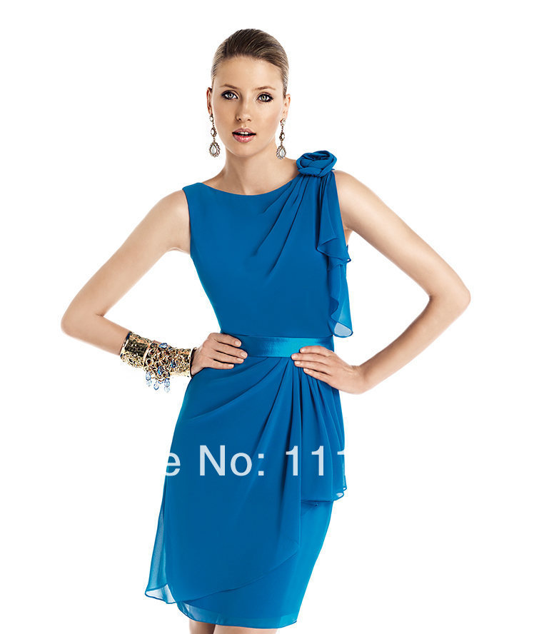 2014 Fall Navy Cocktail Dresses Navy Blue Cocktail Dresses