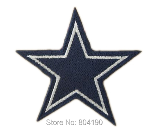 """2.8"""" Cool Cowboys Cow boy Star Logo Embroidered IRON ON/ SEW ON Cool Football Vest Patch Military Badge Wholesale Free shipping(China (Mainland))"""