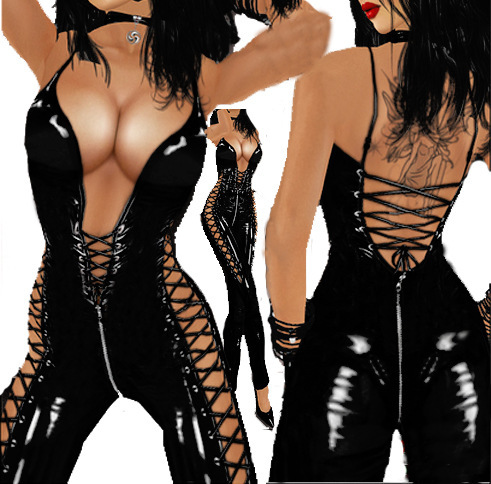 Free Shipping Sexy font b Lingerie b font Lady s Black PVC Leather Bodysuit Sexy Jumpsuit