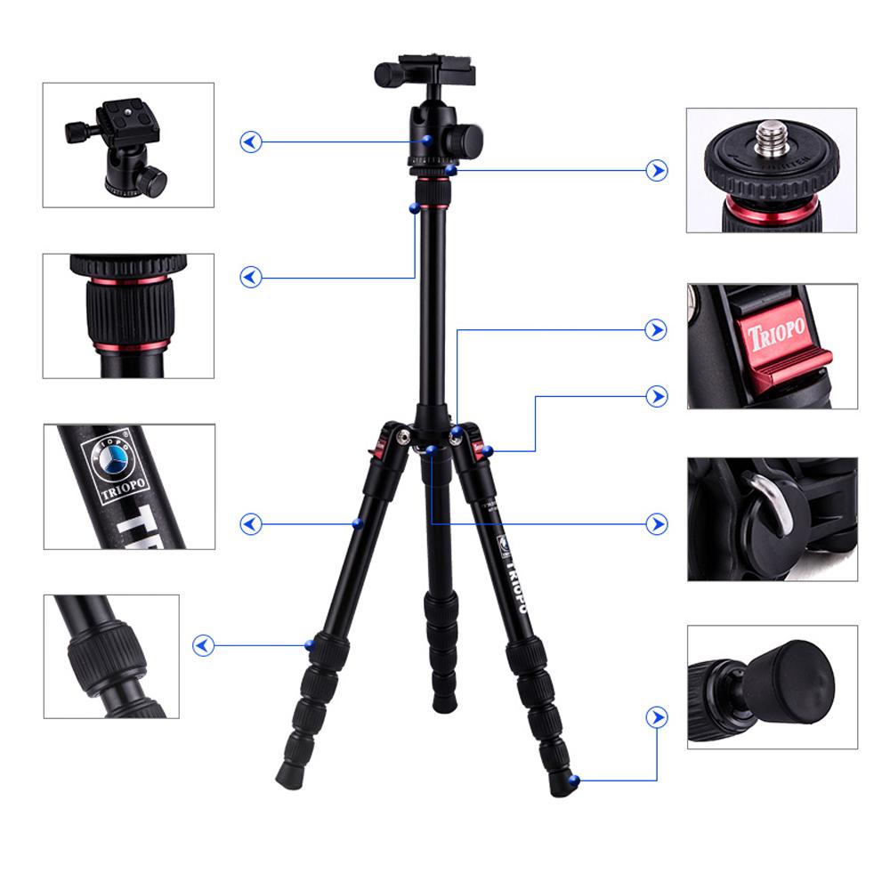 Штатив Triopo Canon Nikon Sony Pentax DSLR mt/2205 + /1s MT-2205+KJ-1S