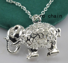 Silver Jewelry 925 Sterling Silver Elephant Pendant 925 Silver Charm Pendant fit for Necklace