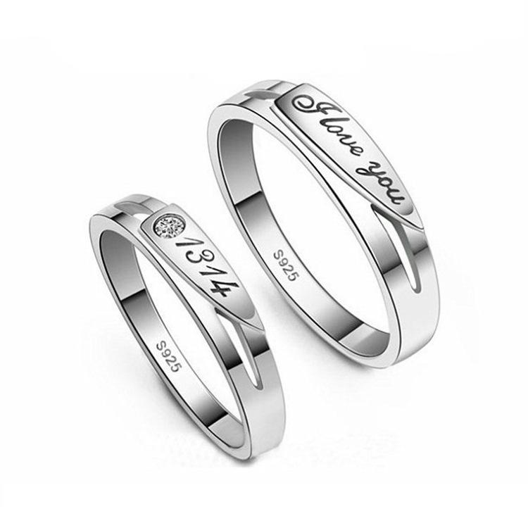 Love life English lovers ring jewelry wholesale fashion wedding ring(China (Mainland))