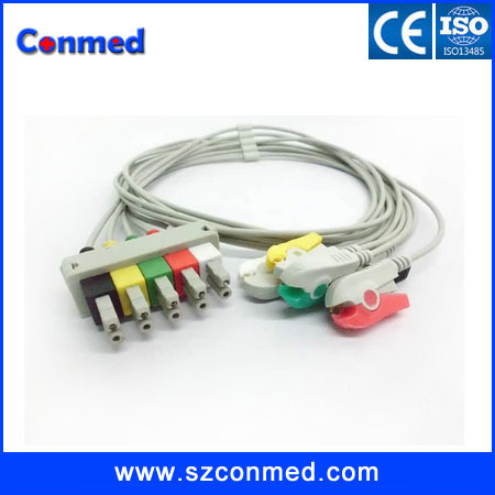 free shipping !Compatible Siemens 3 lead ECG cable with leadwires,clip,AHA/IEC,medical cable,Sirecust Series 400, 500(China (Mainland))