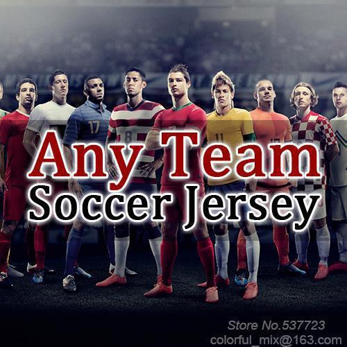 Soccer Jerseys Free Shipping Any Team Fan & Player version Football Jerseys Camisetas De Futbol Soccer Uniforms(China (Mainland))