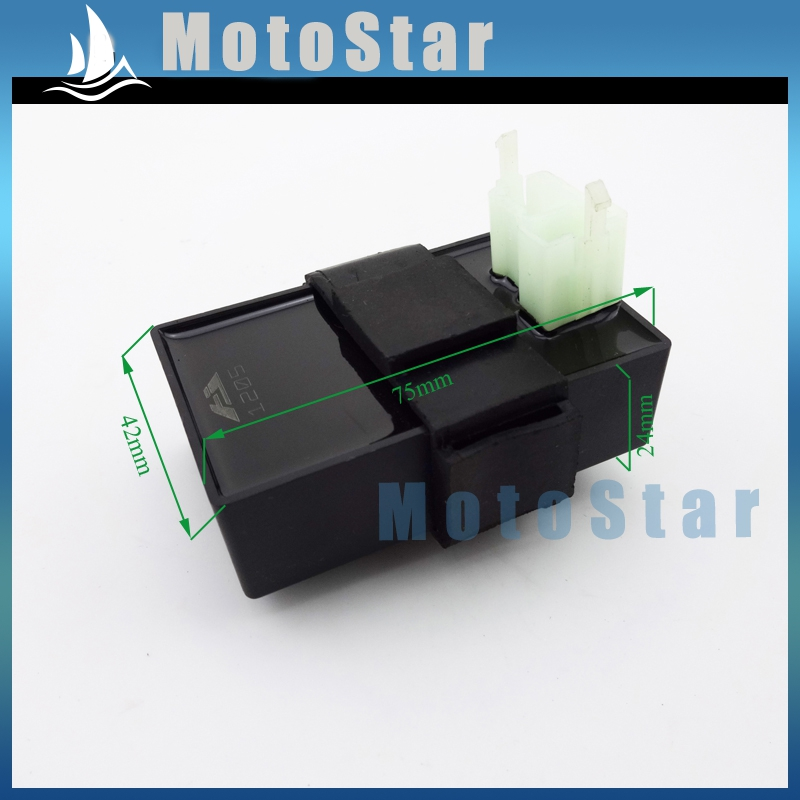 DC 6 Pin CDI Ignition Box For 50cc 70cc 90cc 110cc 125cc 140cc 150cc 200cc 250cc Engine Moped Scooter ATV Quad Go Kart Buggy(China (Mainland))