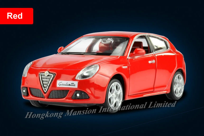 1:32 Scale Luxury Alloy Diecast Car Model For ALFA ROMEO Giulietta Collection Model Pull Back Toys Car With Sound&Light(China (Mainland))