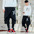 Faux two piece trousers hiphop personality male street trend of the autumn and winter dj culottes