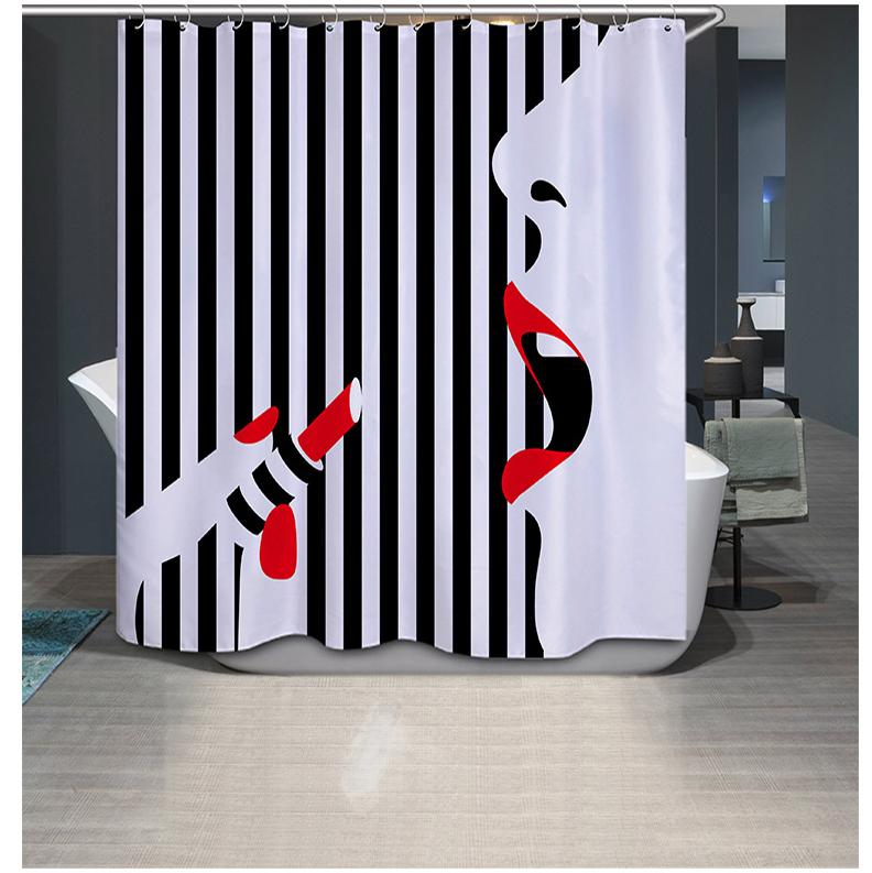 Popular Shower Curtains Black Buy Cheap Shower Curtains