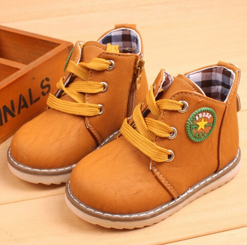 New Arrival 2016 Fashion Children shoes Martin boots Spring Autumn Boys Girls shoes Kids Ankle boots Flats 0.9/2