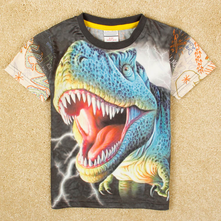 AliExpress.com Product - 2015 New Styles Dinosaurs T-shirts Boy's 3D T-shirt Cotton,O-neck,Children's Printed T Shirt Summer Kids School Clothing! 2T-7Y