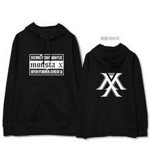 Buy Monsta x concert member name printing fleece hoodie kpop fans supportive pullover sweatshirt plus size for $21.12 in AliExpress store