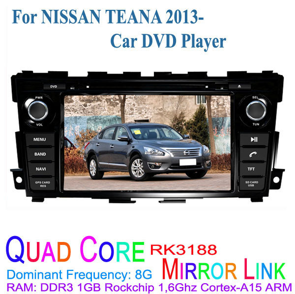 1024*600 Quad Core Android 4.4.4 Fit Nissan Teana 2013 2014 2015 Car DVD Player GPS TV 3G Radio(China (Mainland))