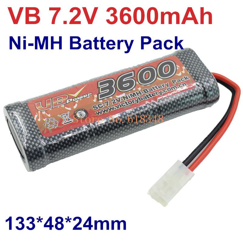 Original VB Power SC 3600mAh 7.2V Ni-MH NiMH Battery Pack Akku 0.2C~30A Tamiya