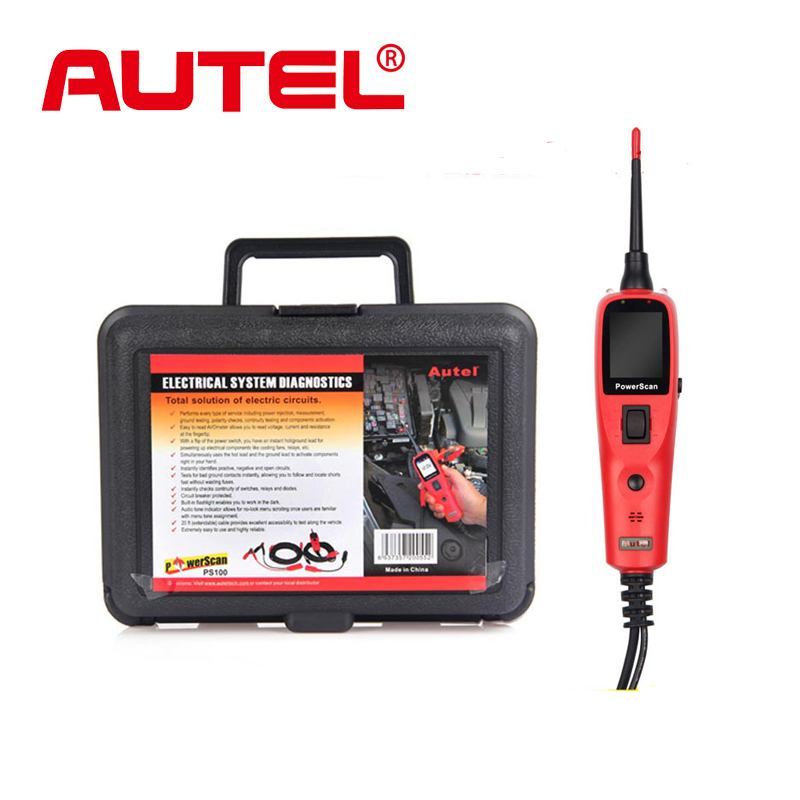 AUTEL Powerscan PS100 Electrical System Diagnostic Tool Power Scan Best Quality circuit Tester Featuring AVOmeter, test light(China (Mainland))