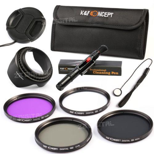 9in1 67mm UV CPL FLD ND4 Filter Kit +Flower Lens Hood +Filter Bag For Canon 18-135 70-200/For Nikon 18-105 DSLR Camera(China (Mainland))