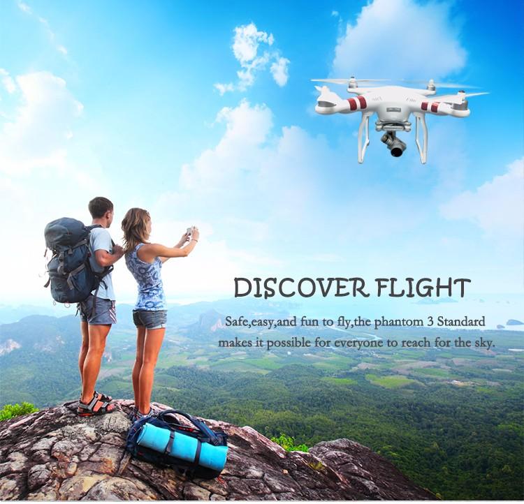 Dji 100% Original Dji Phantom 3 Standard High Quality FPV Camera Drone RC drone with 2.7K HD Camera and 3-Axis Gimbal