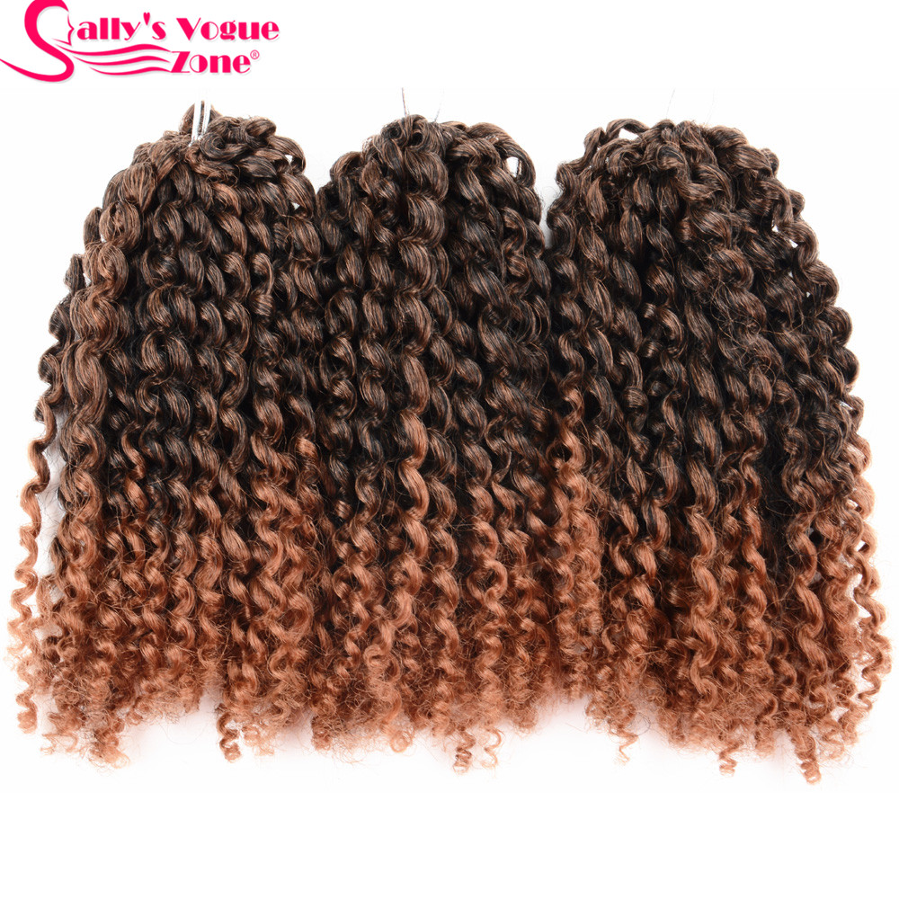 8Inch 3pcsset Crochet Braids Marlybob Hair Synthetic Kinky Twist Curly Crochet Braiding Hair Extensions Jumbo Twist Hair Styles (17)11_