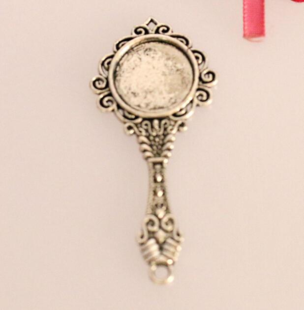 Wholesale 20 Pcs beautiful Tibetan Silver Small mirror Pendant  64x29mm Jewelry DIY Free Shipping V103<br><br>Aliexpress