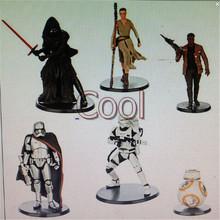 Star Wars The Force Awakens REY Kylo Ren Captain Phasma BB-8 FINN Lightsaber Movies PVC Action Figure Model Kids Toy 6pc/set