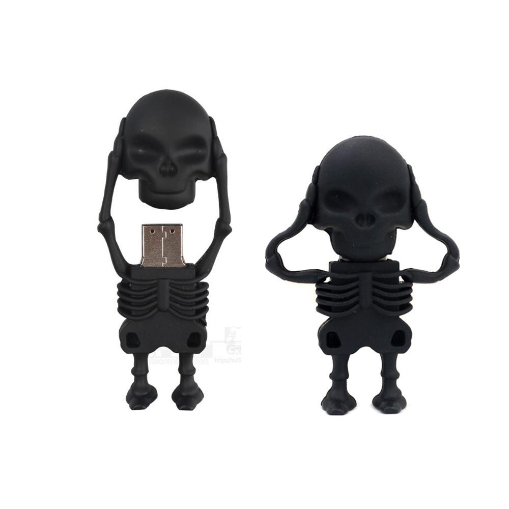 2016 skull design usb stick drivedrive pendrive 32gb 16gb cle usb flash usb pen drive 64gb usb flash drive real capacity 8gb(China (Mainland))