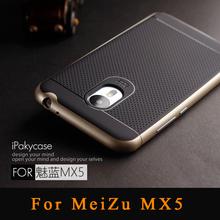 Meizu MX5,original Ipaky brand Luxury Armor Plastic Frame Matte silicone Back cover cases For meizu mx5 meizu mx 5 Phone cases