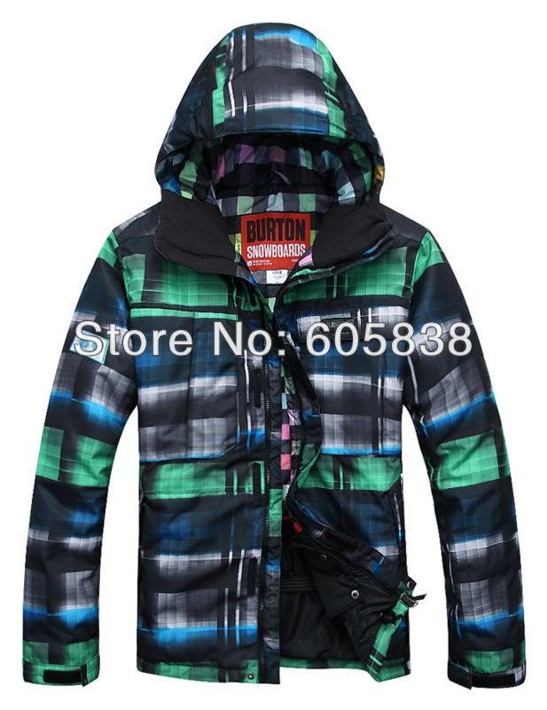 2013 hot selling mens burton waterproof thermal windproof ski jacket green snowboarding jacket lightweight ski parka men skiwear(China (Mainland))